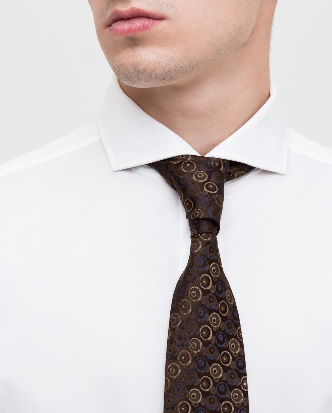 ISAIA Коричневый галстук из шелка CRV007CV53W изображение 2