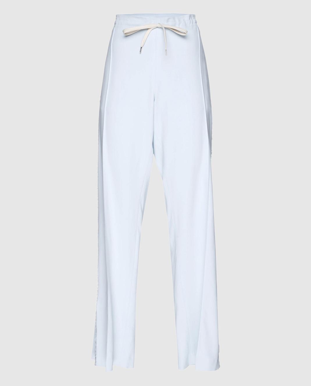 Ermanno Scervino Голубые брюки D326P708RCQN