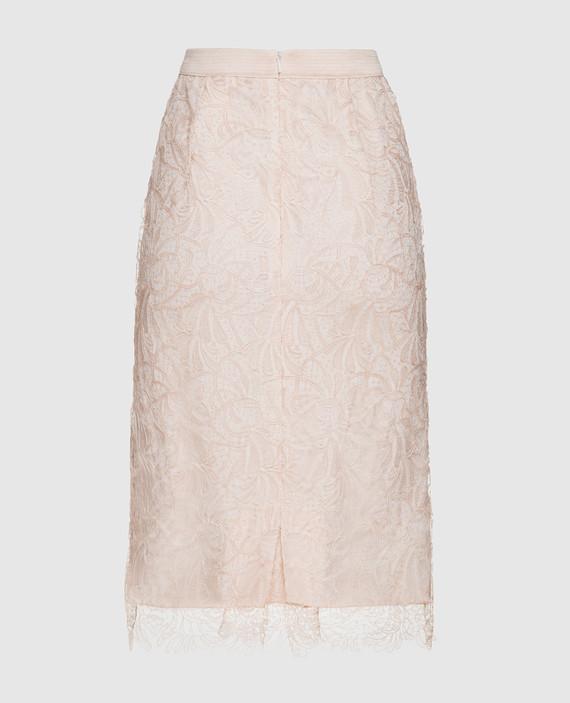Пудровая юбка hover