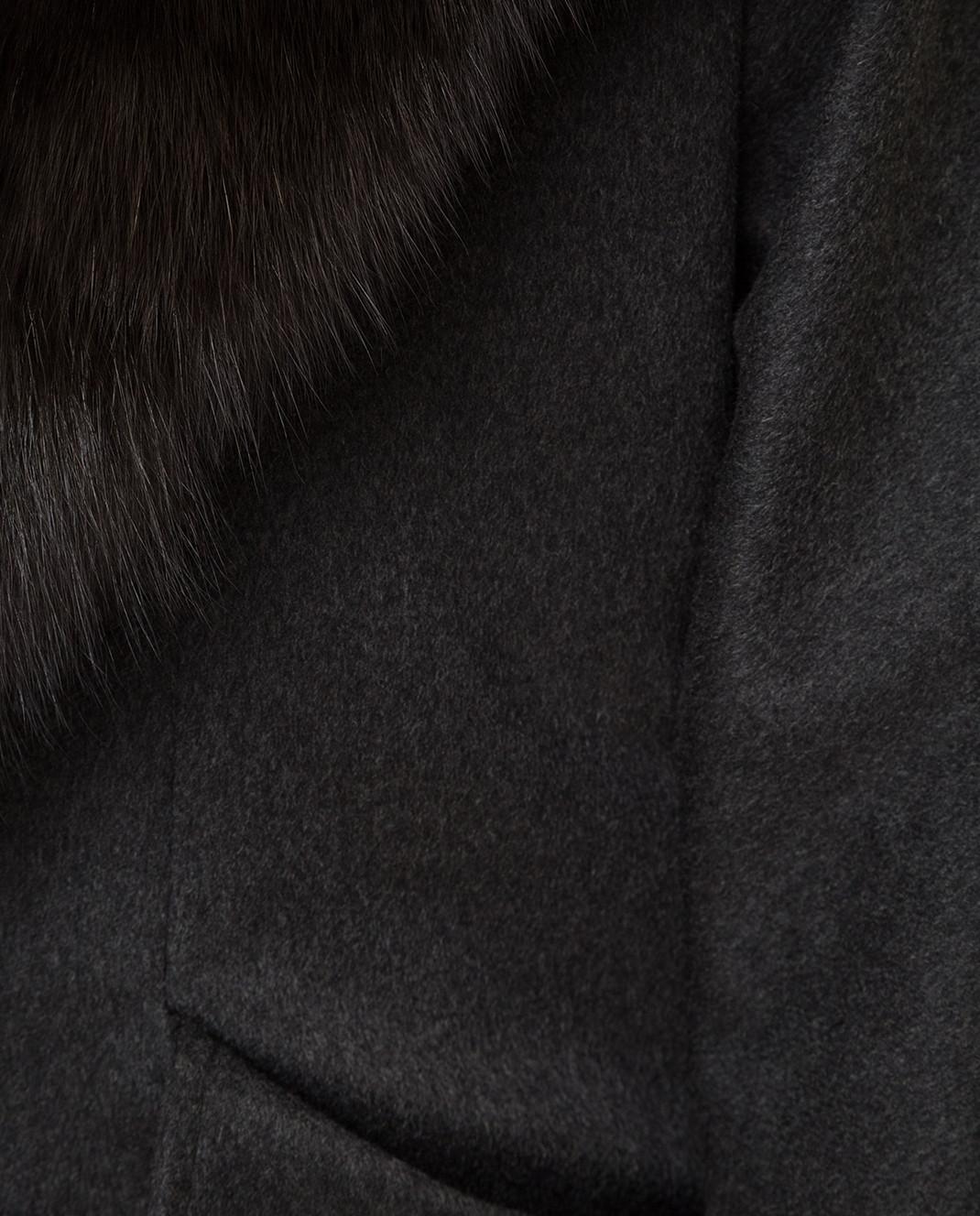 Real Furs House Черное пальто QSR433 изображение 5