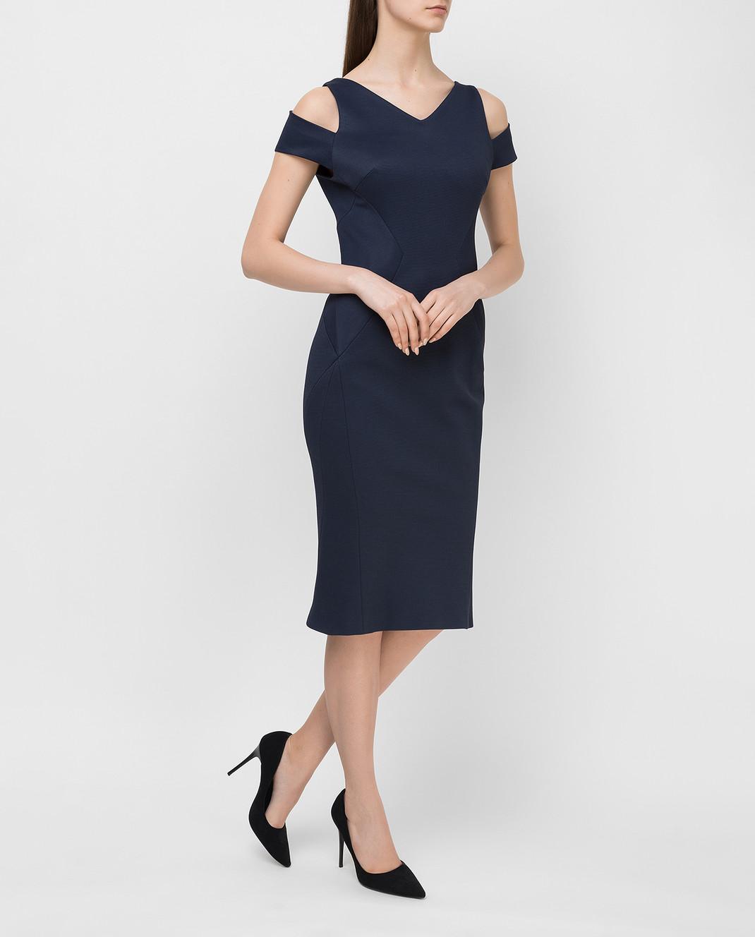 Zac Posen Темно-синее платье 40548253 изображение 2