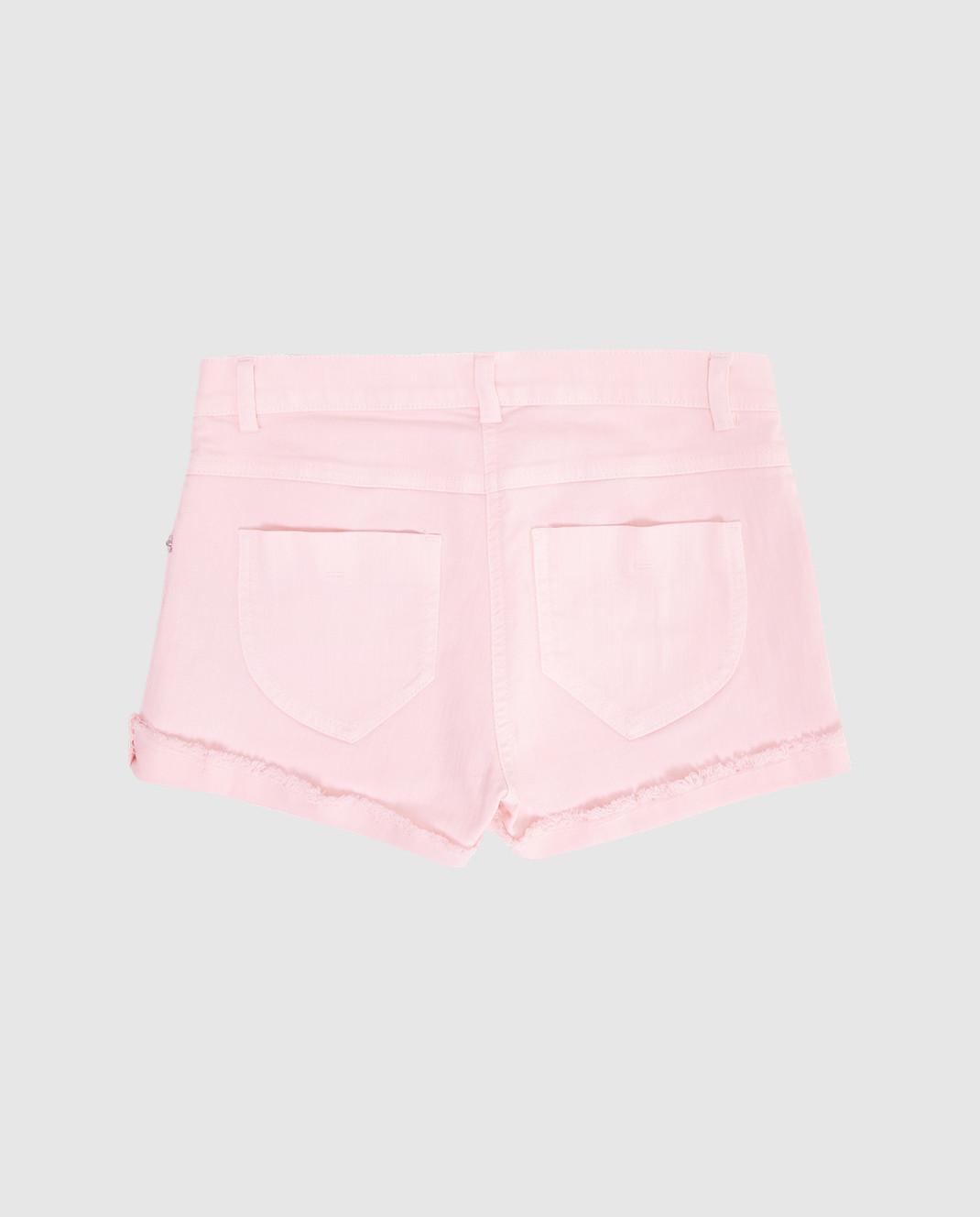 Ermanno Scervino Детские розовые шорты PC061014 изображение 2