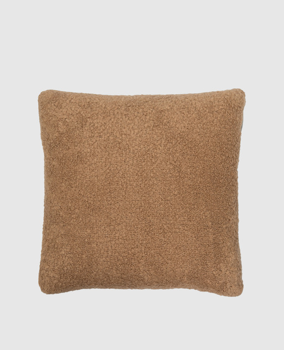 Бежевая подушка из верблюжьей шерсти и шелка