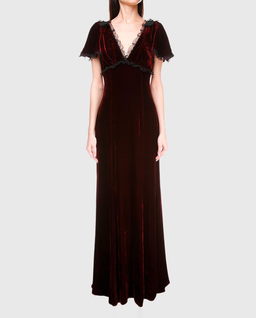 Dolce&Gabbana Бордовое платье F66E1ZFUVH9 изображение 3