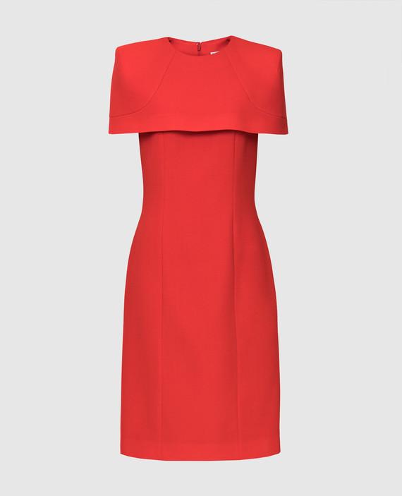 Красное платье из шерсти
