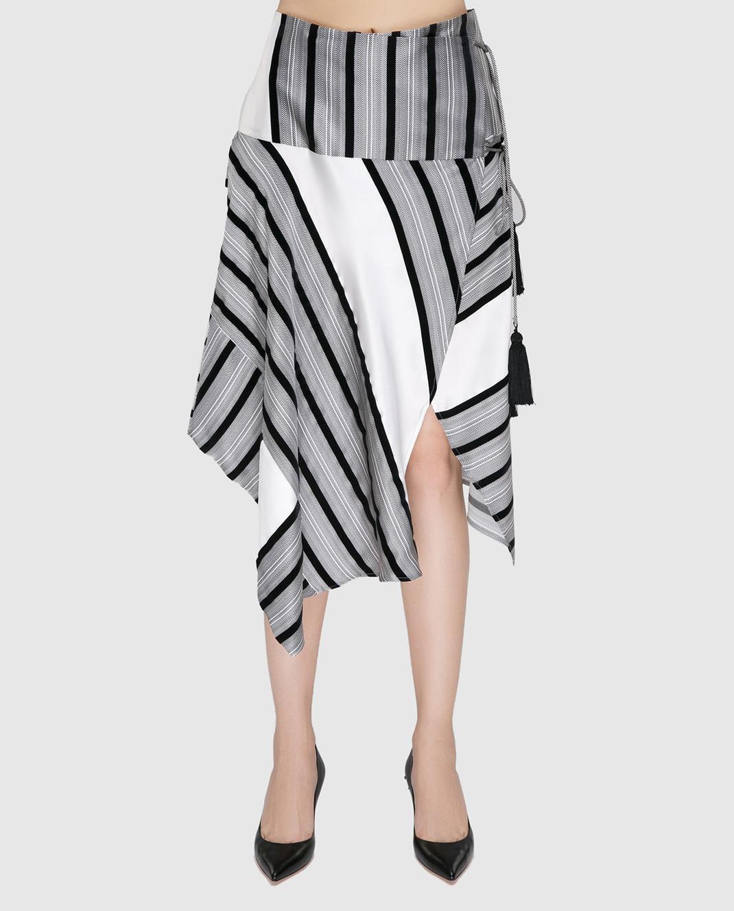 Etro Серая юбка из шелка изображение 3