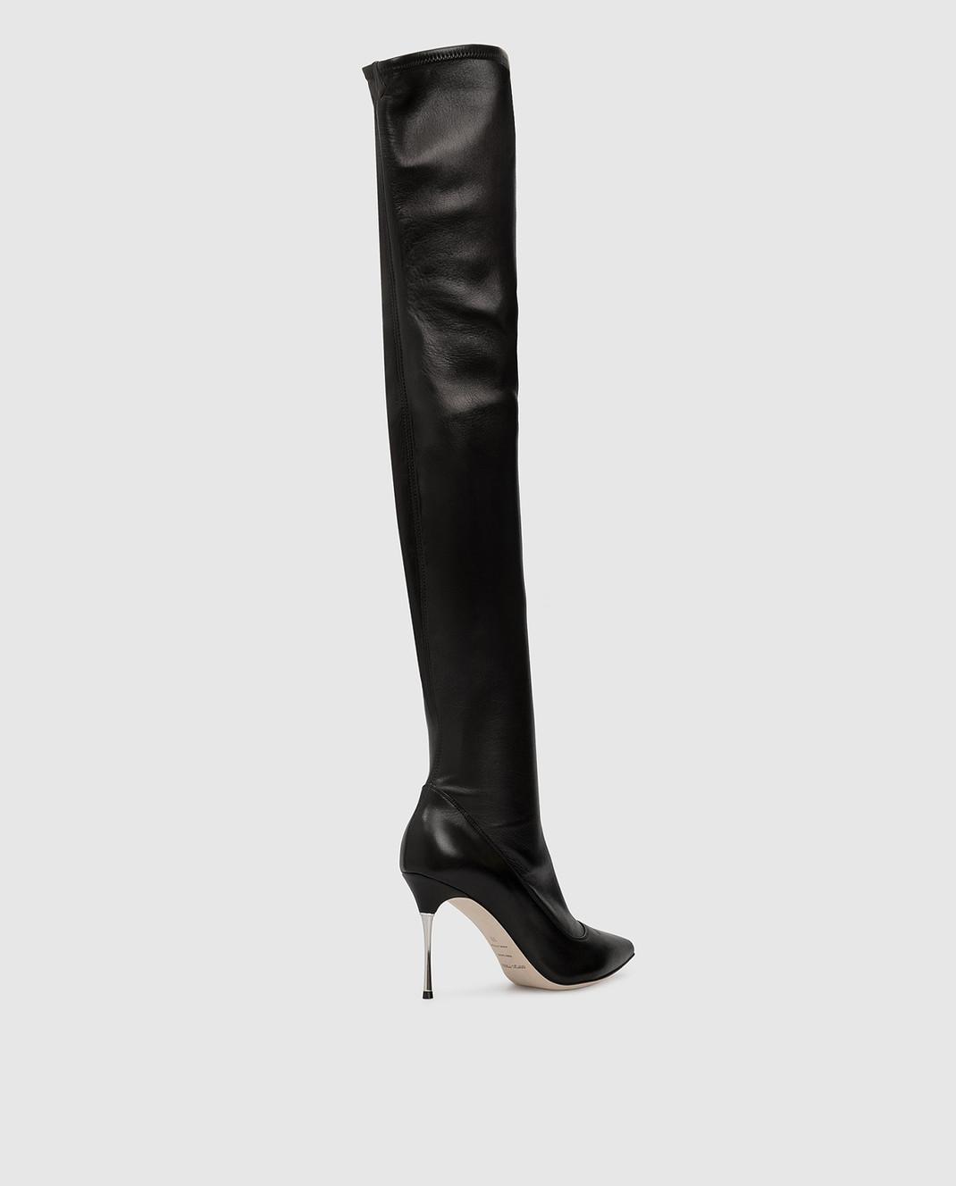 Sergio Rossi Черные кожаные ботфорты A85660MAF715 изображение 4
