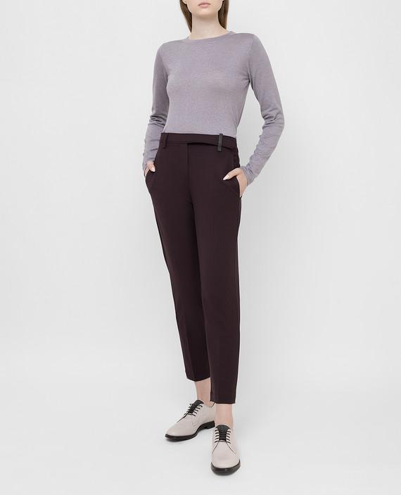 Бордовые брюки из шерсти hover