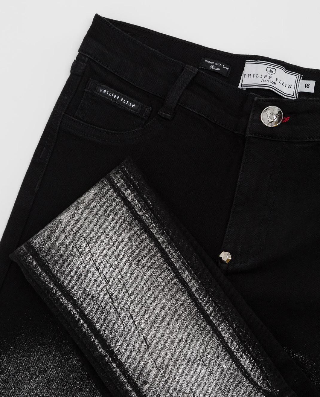 Philipp Plein Детские черные джинсы GDT01071216 изображение 3
