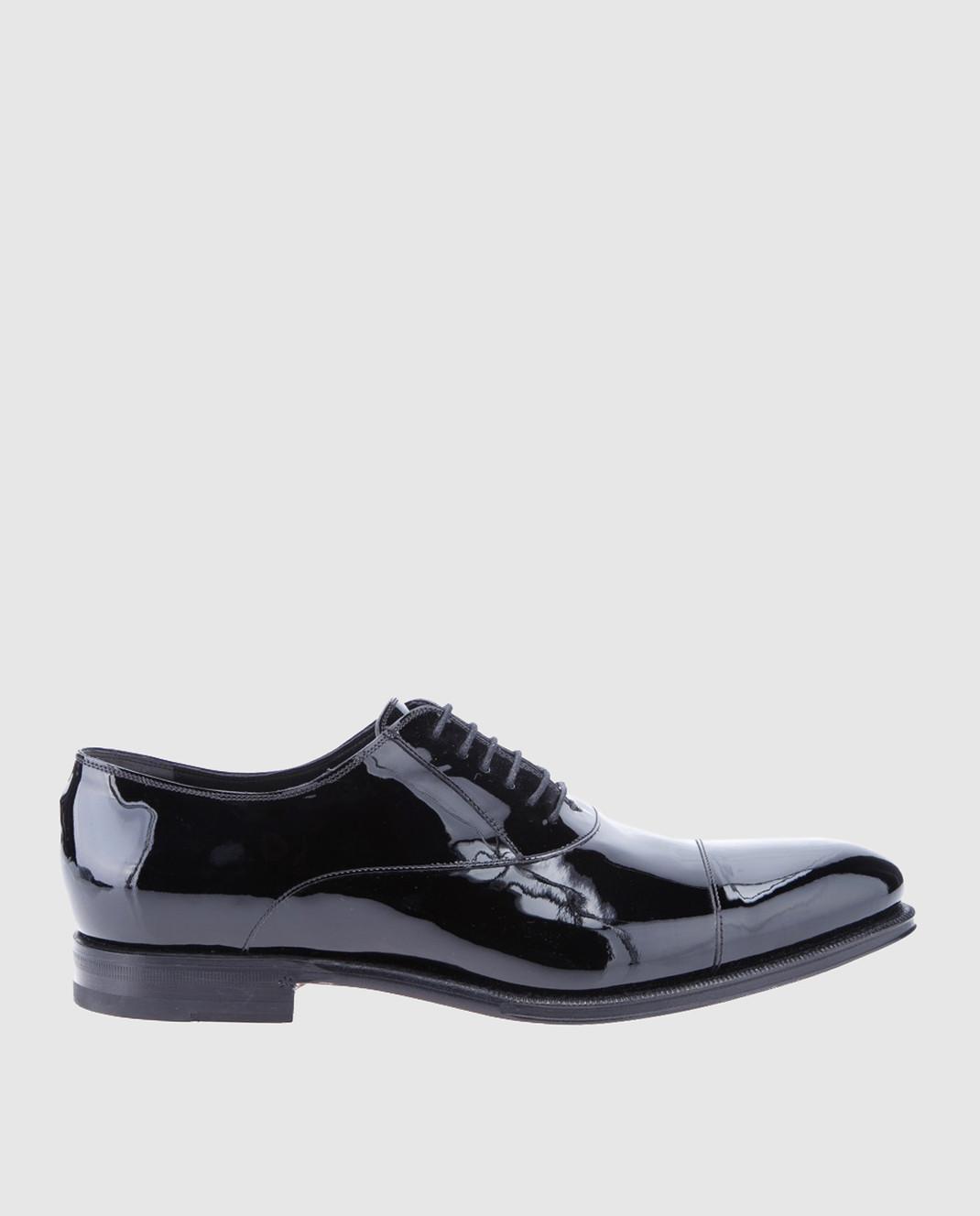 Gucci Черные кожаные оксфорды 457144BNCR0