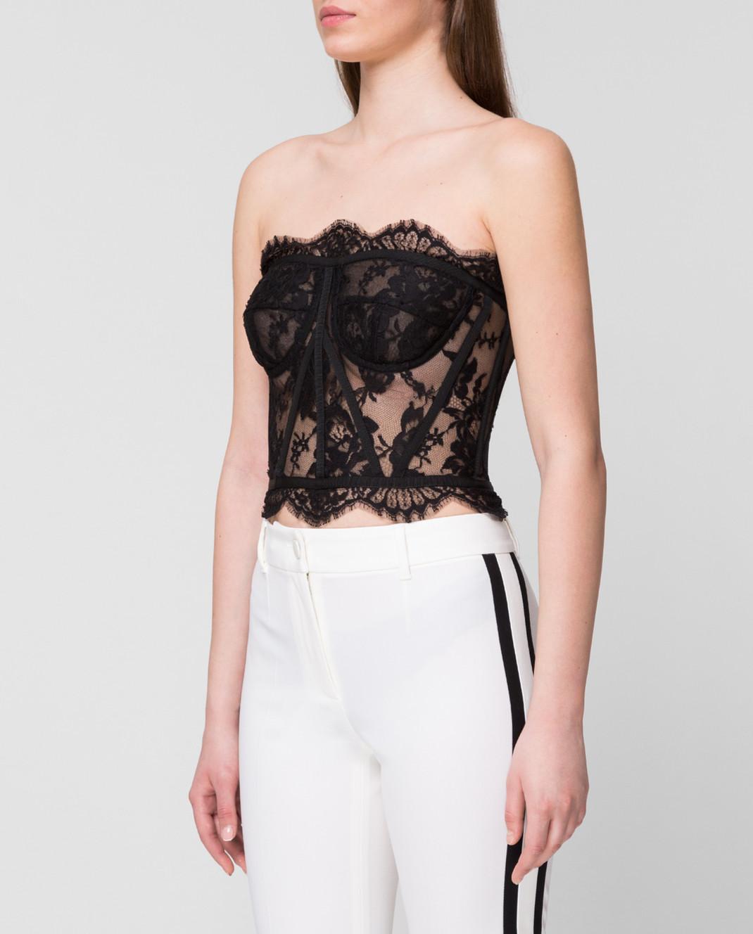 Dolce&Gabbana Черный топ F72X4THLMQJ изображение 3