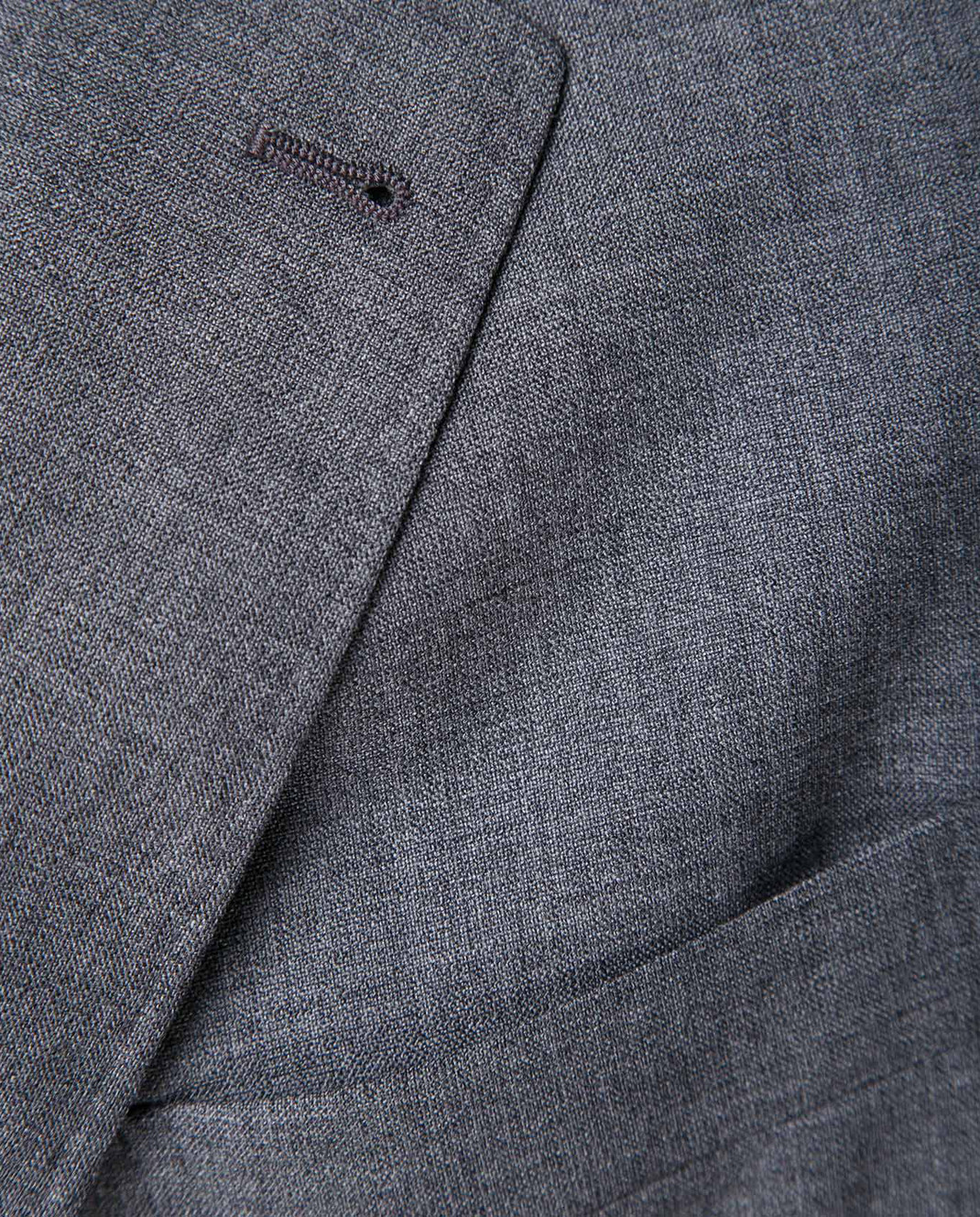 Brunello Cucinelli Серый пиджак из шерсти MF4237BTD изображение 5