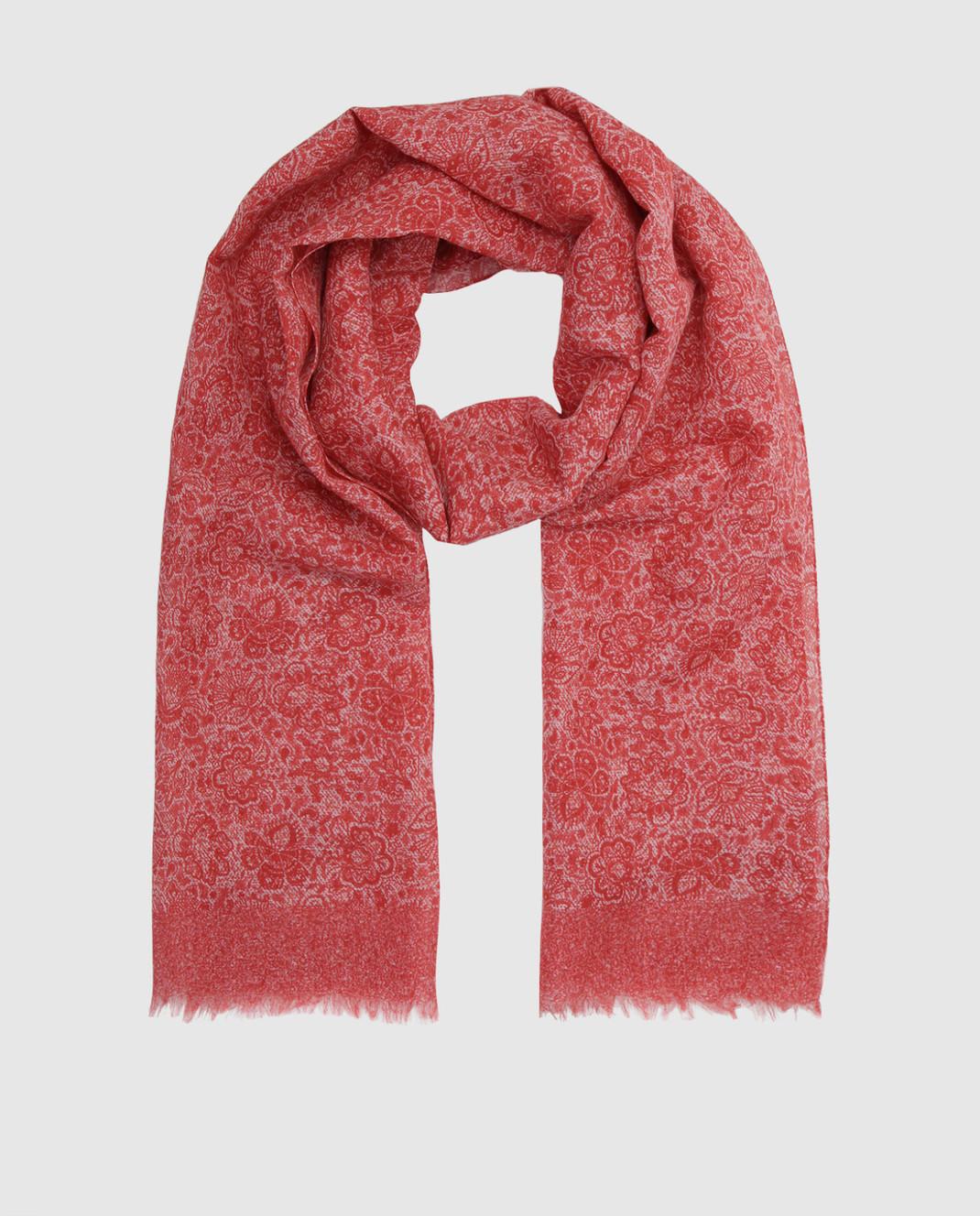 ISAIA Красный шарф SC0087Z0047