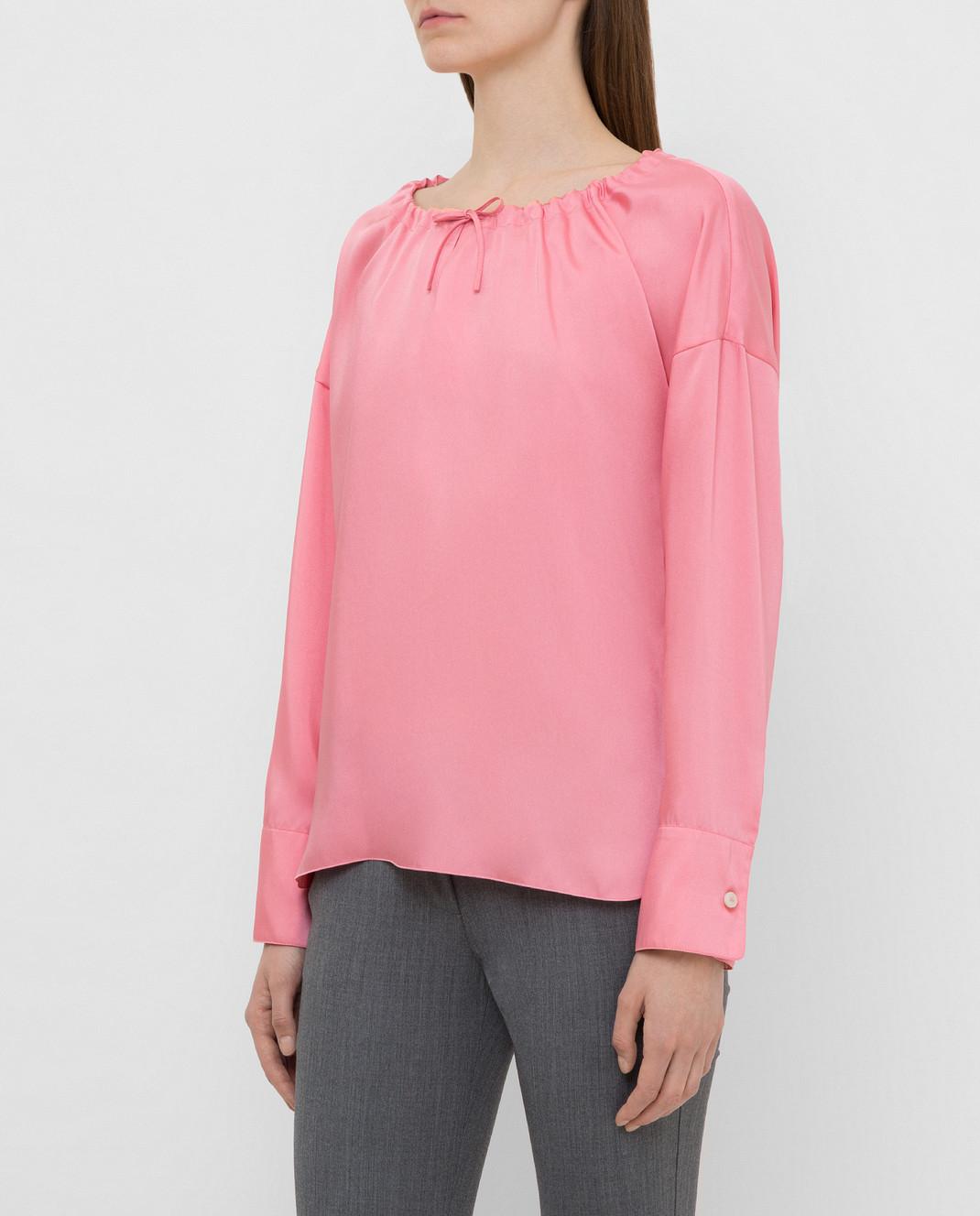 Yves Salomon Розовая блуза 9EYH00563TWUW изображение 3