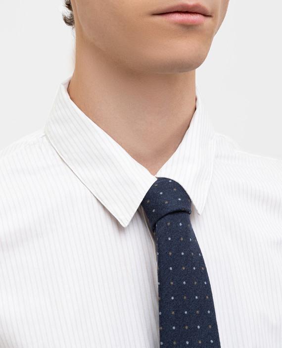 Темно-синий галстук из шерсти hover