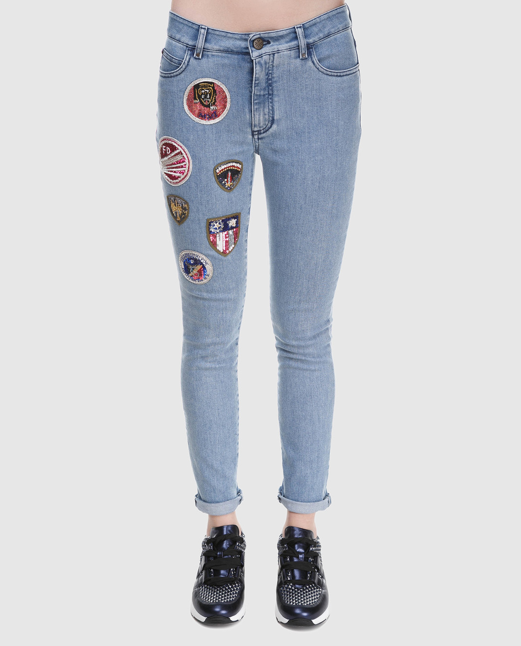 Mr&Mrs Italy Голубые джинсы JE084E изображение 3