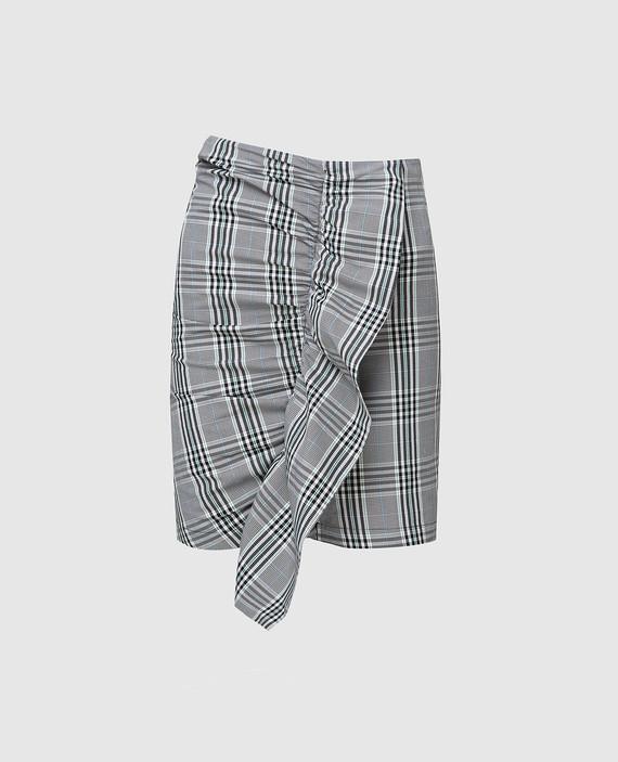 Серая юбка с оборками