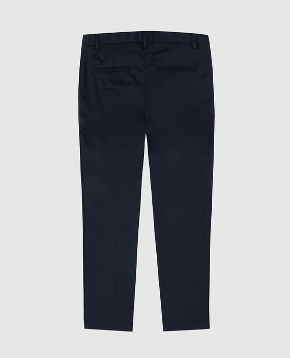 Детские темно-синий брюки hover