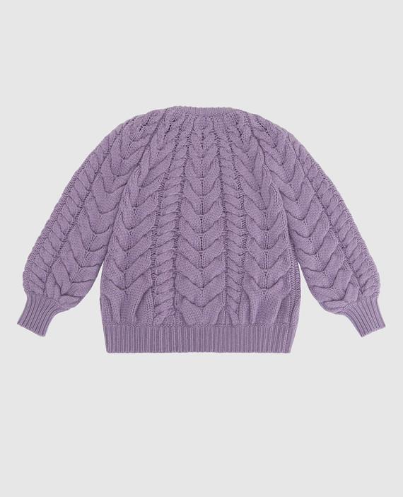 Детский сиреневый свитер из кашемира hover
