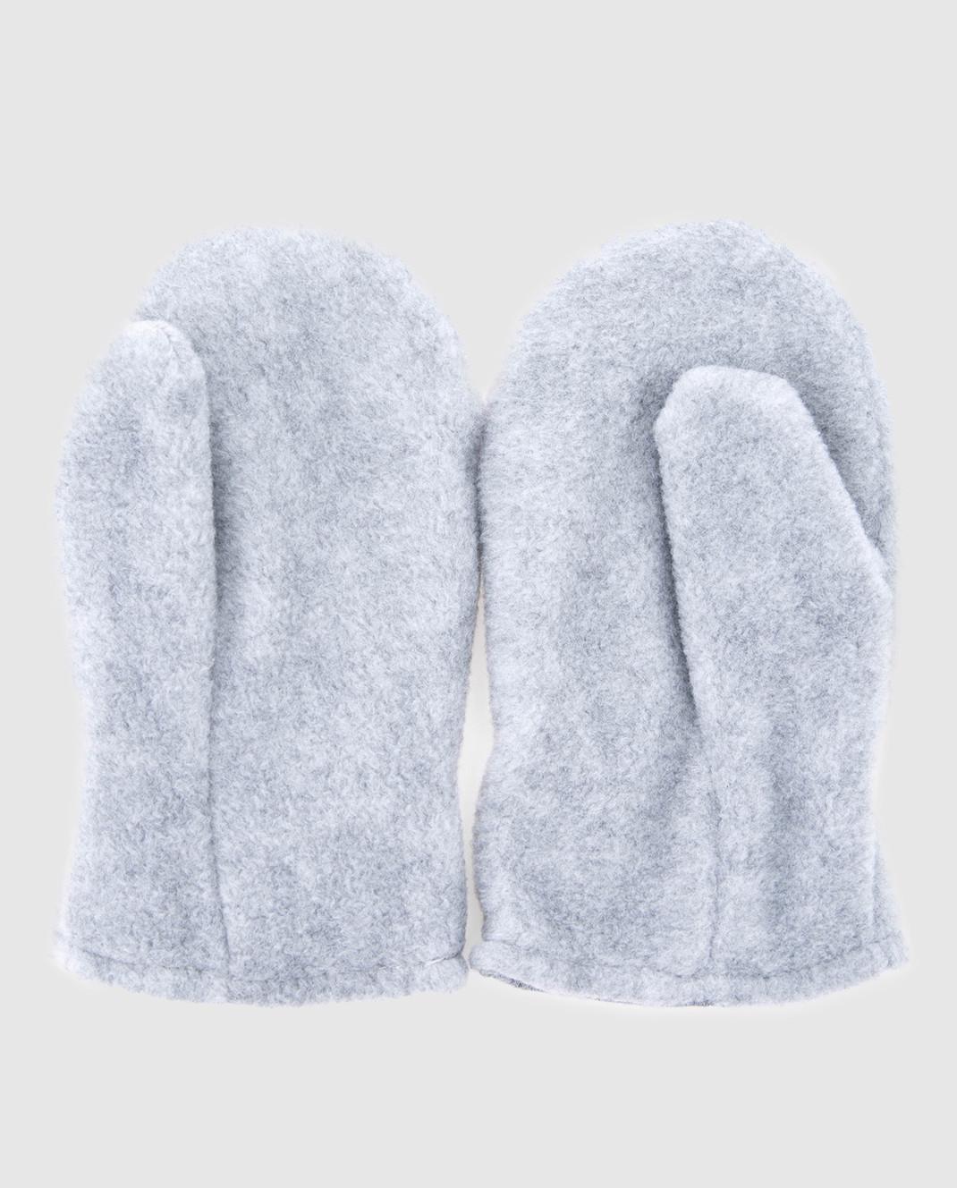 Moncler ENFANT Детские серые рукавицы 00509 изображение 2