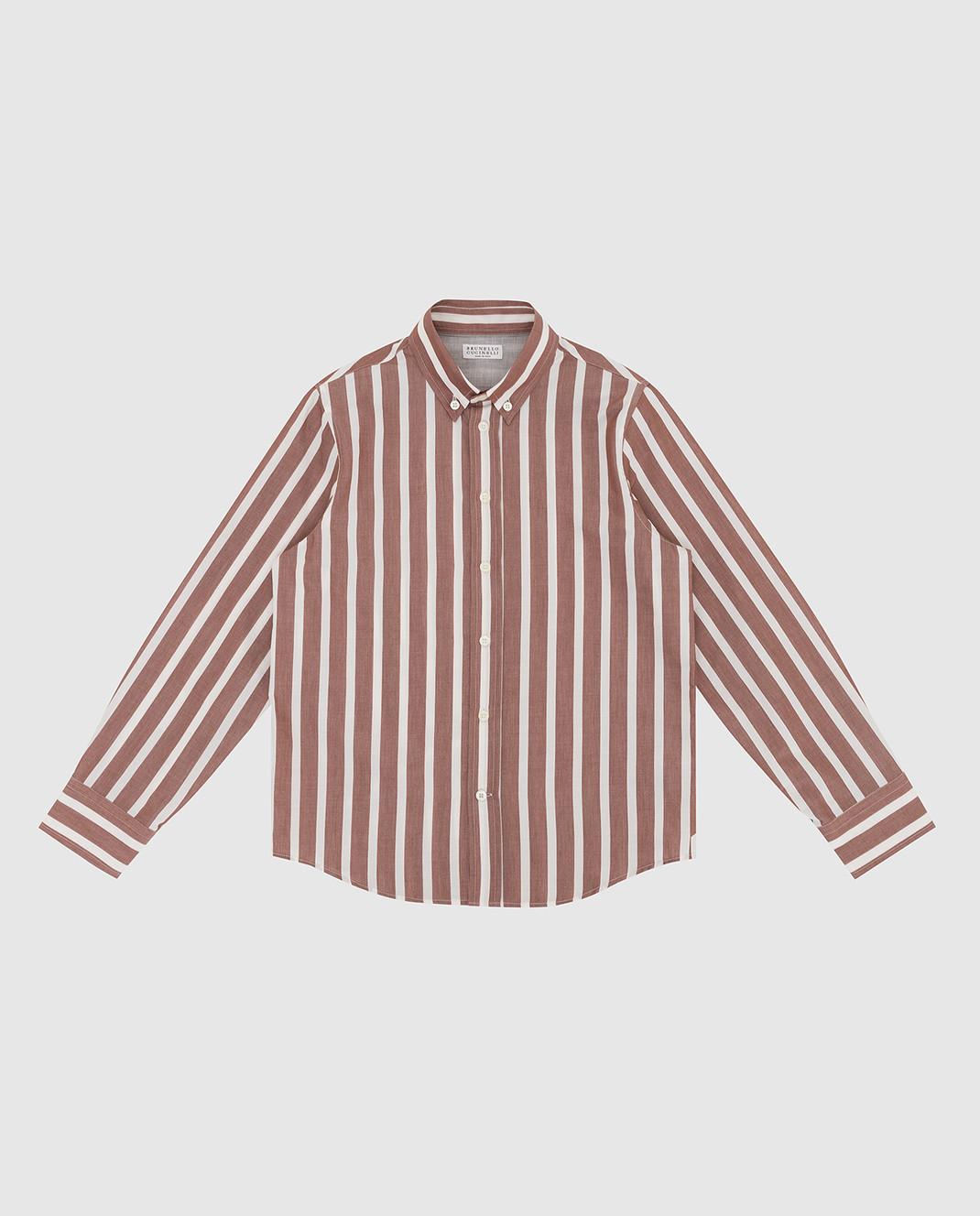 Brunello Cucinelli Детская бежевая рубашка BN6333008B