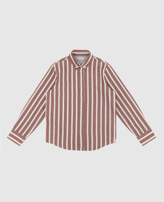 Детская бежевая рубашка