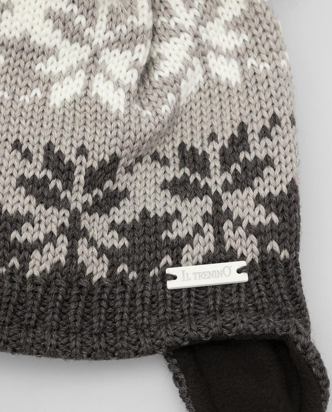 Il Trenino Детская темно-серая шапка из шерсти изображение 3