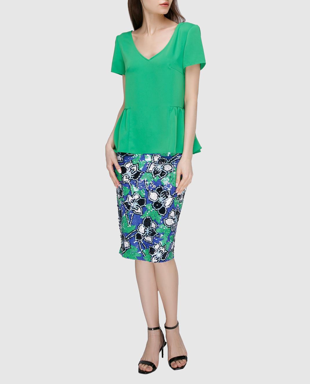PAROSH Зеленая блуза D310311 изображение 2