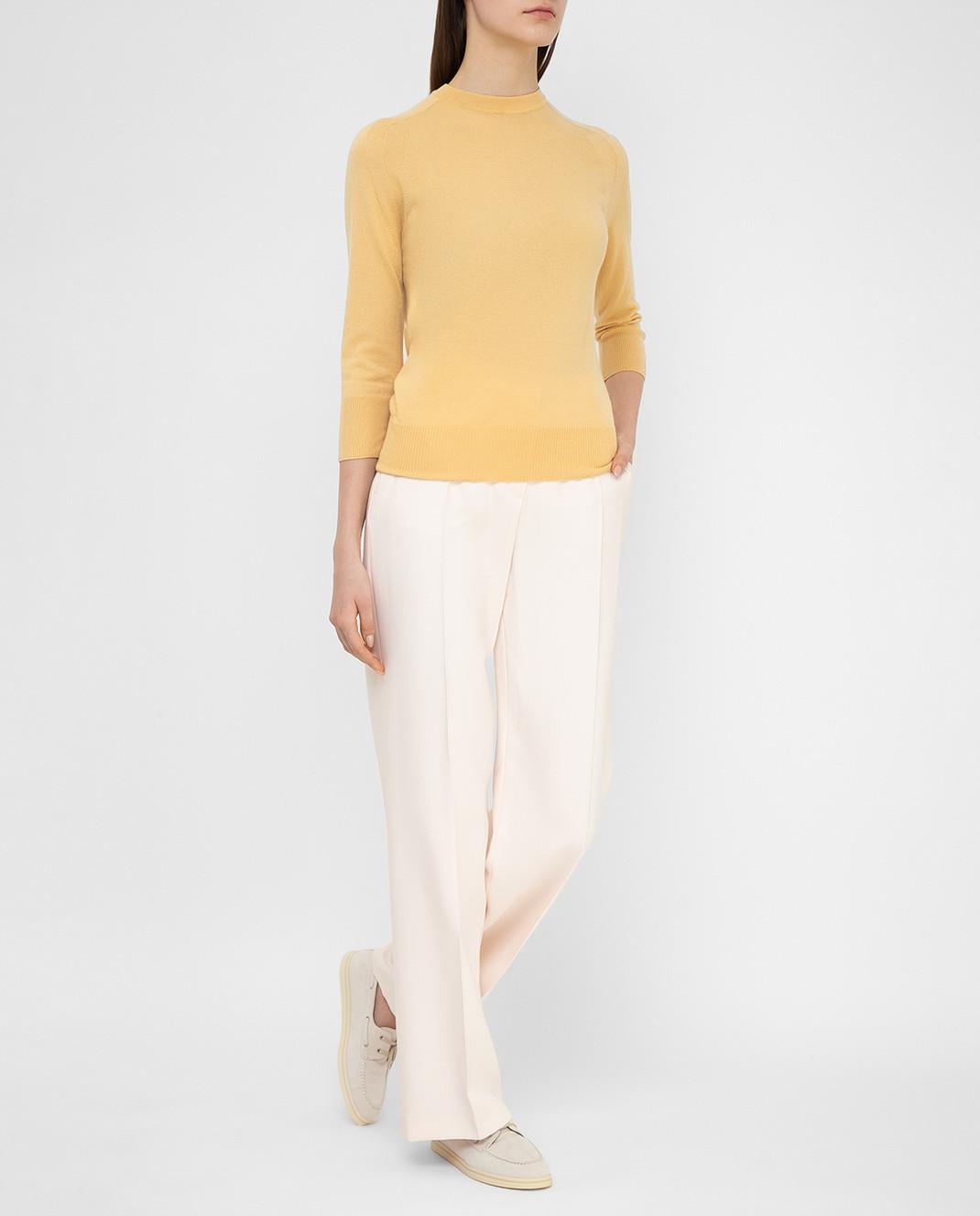Loro Piana Розовые брюки из шелка и шерсти F1FAI5226 изображение 2