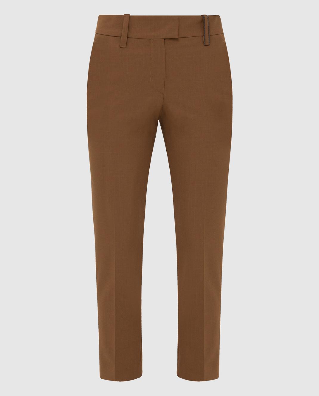 Brunello Cucinelli Коричневые брюки изображение 1