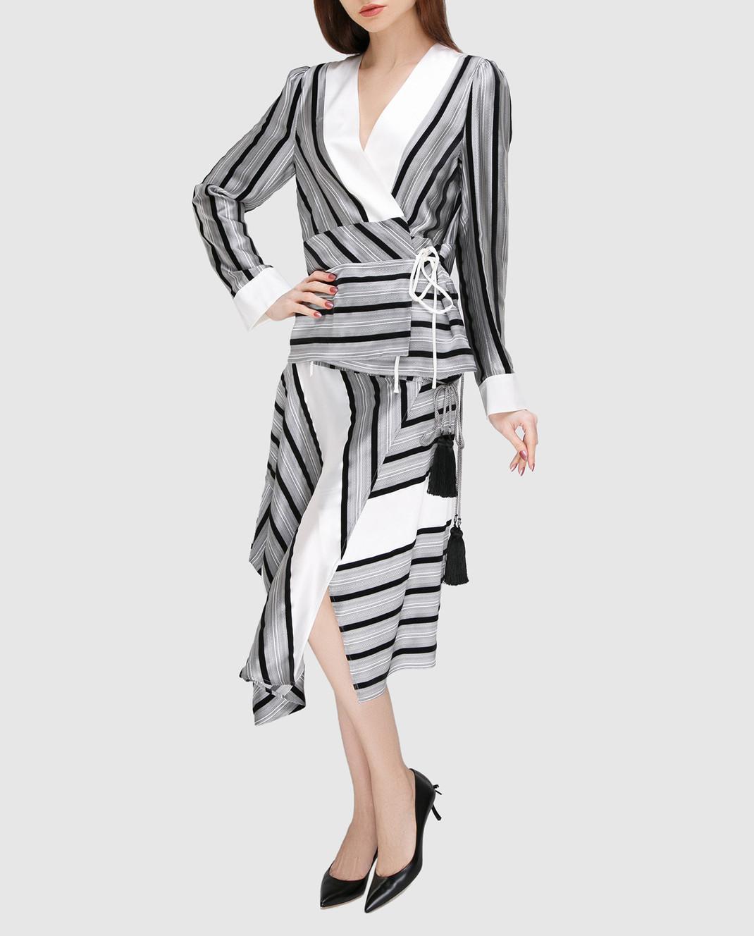 Etro Серая блуза из шелка D16097 изображение 2