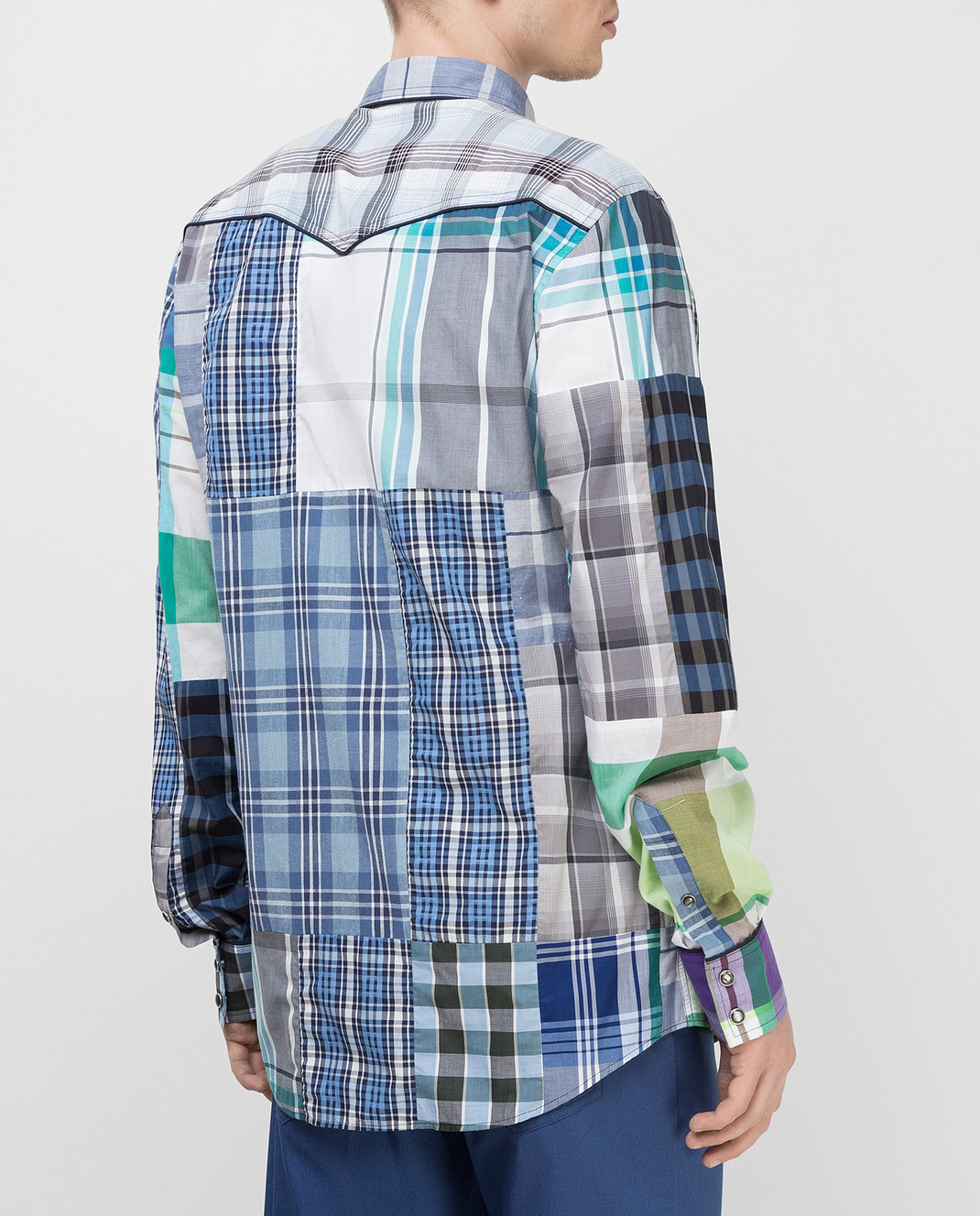 Dolce&Gabbana Синяя рубашка G5CS8TG9Y16 изображение 4