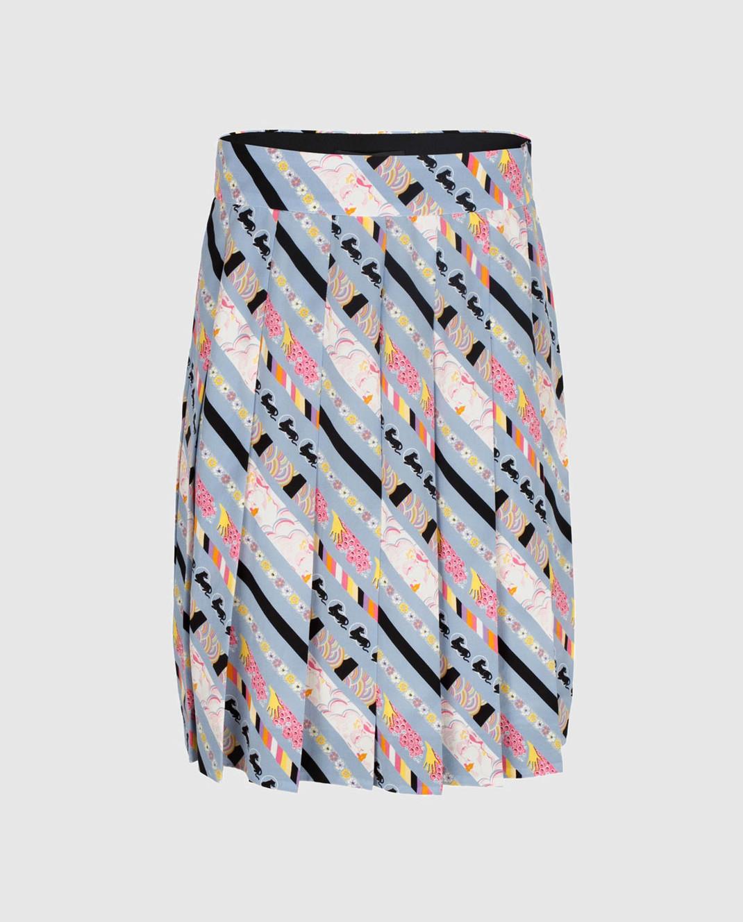 Marc Jacobs Голубая юбка из шелка изображение 1