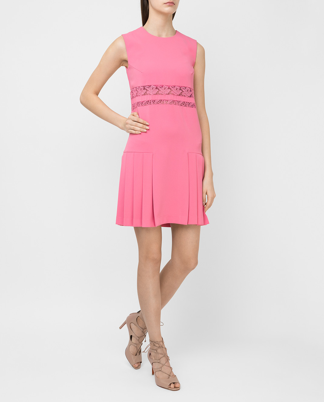 Ermanno Scervino Розовое платье D262Q365CYX изображение 2