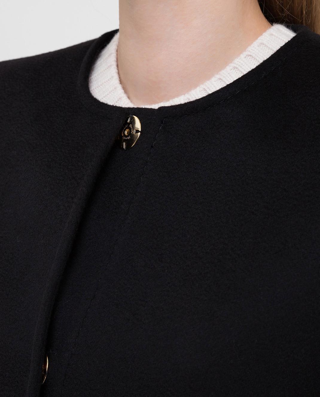 Heresis Черное пальто из шерсти D40100SLIME200 изображение 5