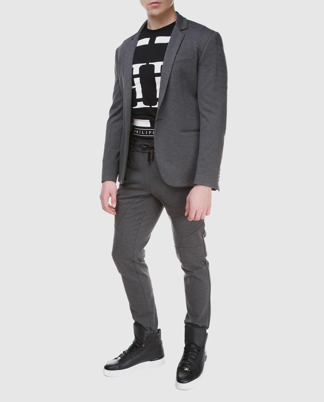 Philipp Plein Серый пиджак MRF0323 изображение 2