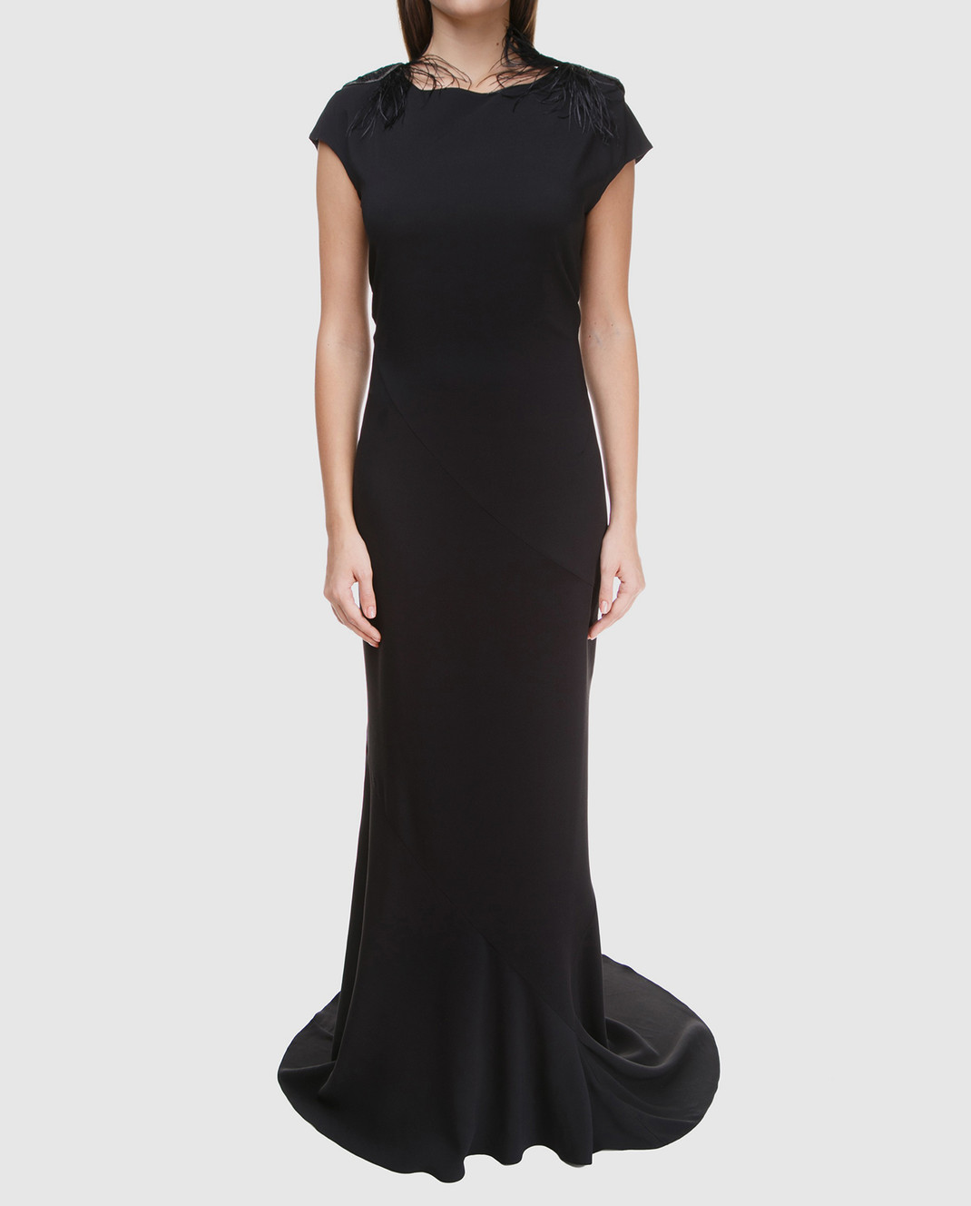 Brunello Cucinelli Черное платье MA970AE661 изображение 2