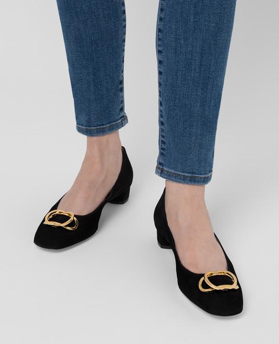 Черные замшевые туфли hover