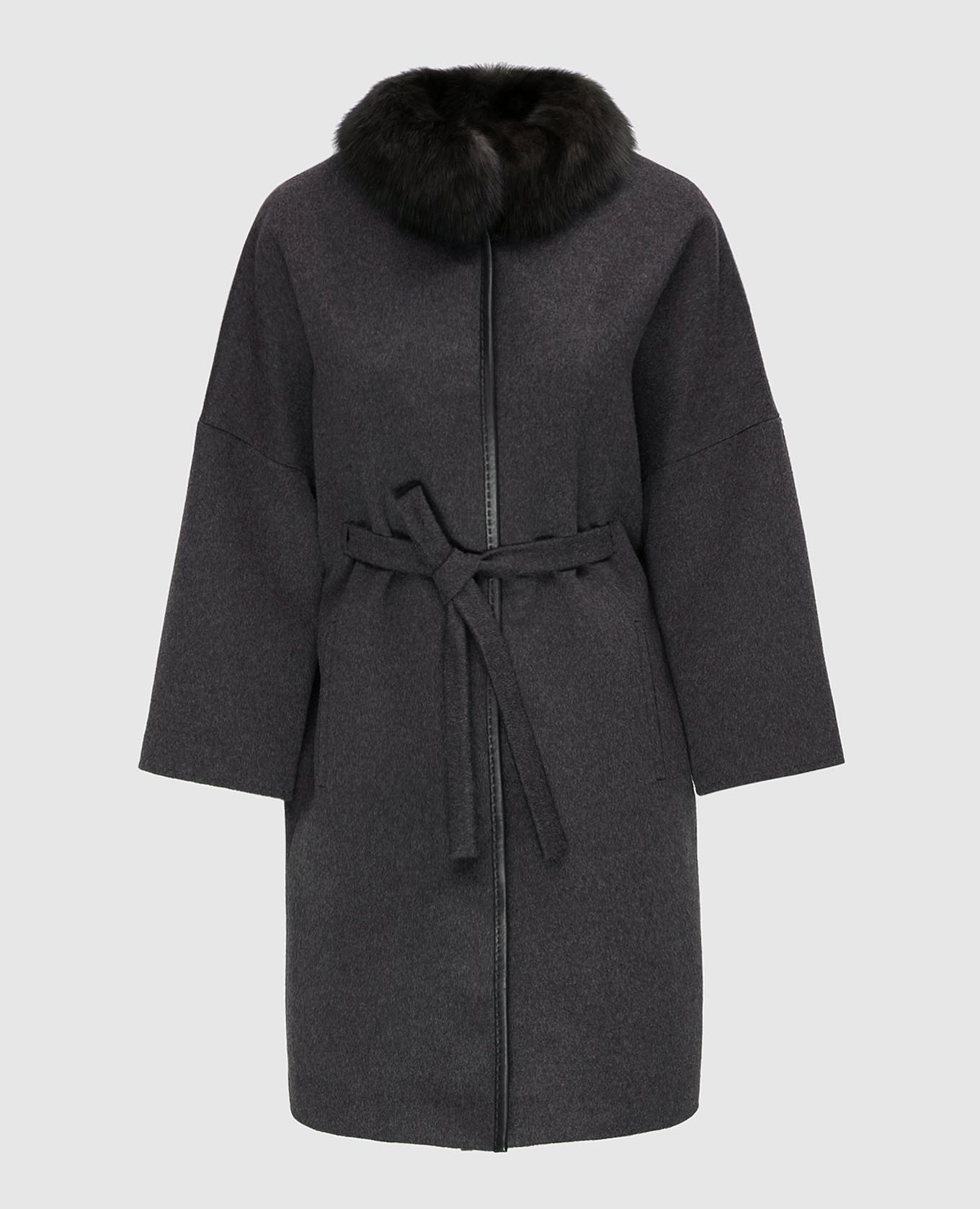 Темно-серое пальто