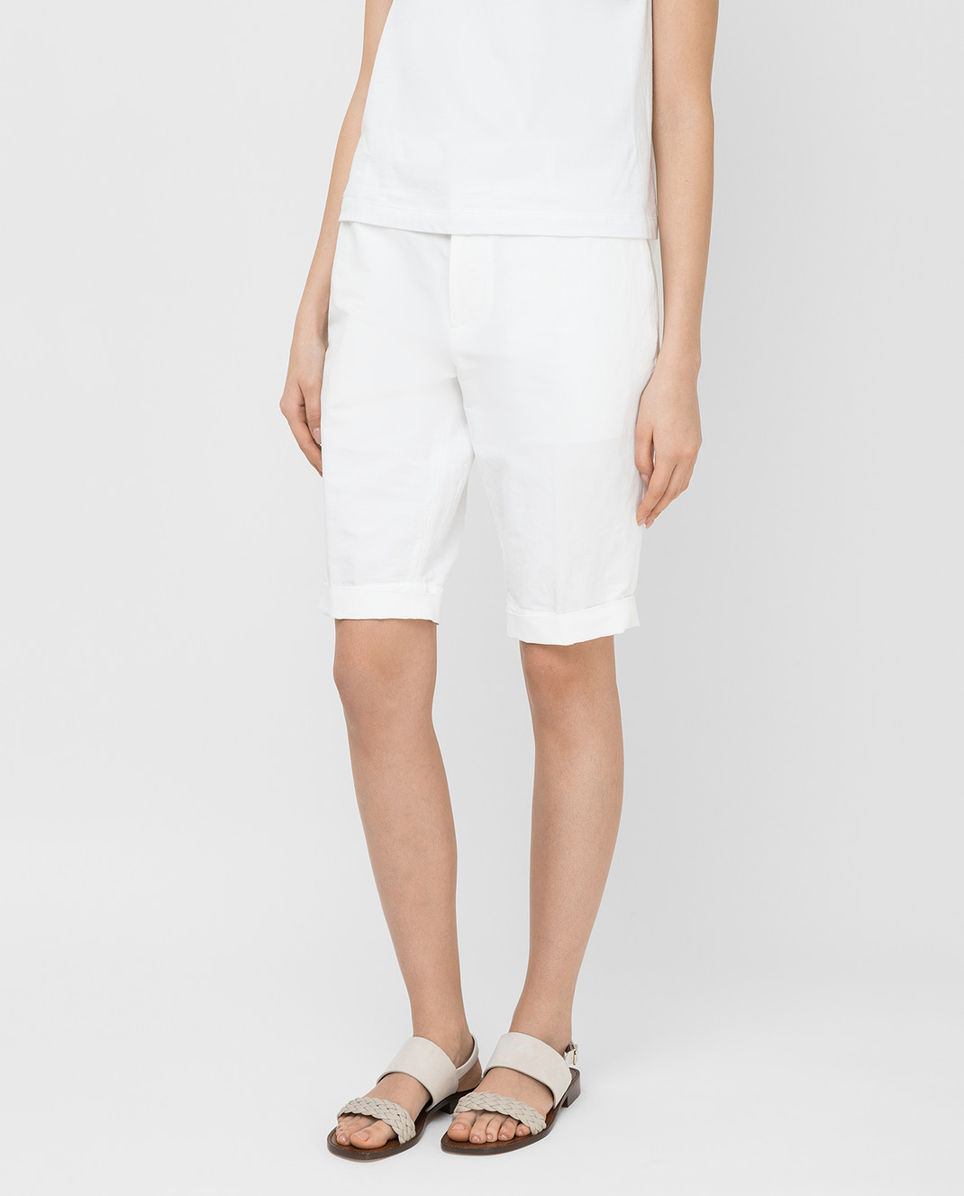 Marni Белые шорты PAMAN47A10TL234 изображение 3
