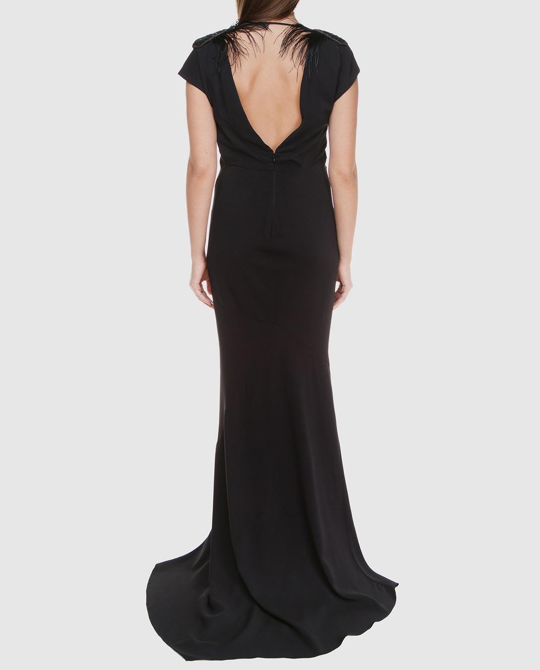 Brunello Cucinelli Черное платье MA970AE661 изображение 4
