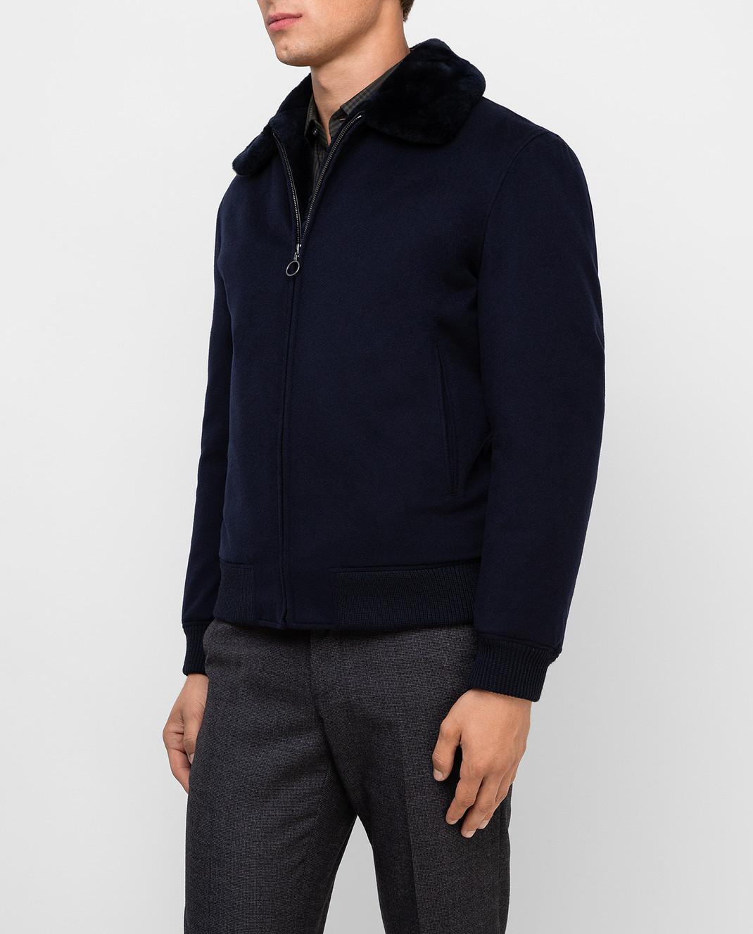 Seraphin Темно-синяя куртка из кашемира 22600H9FE9600 изображение 3