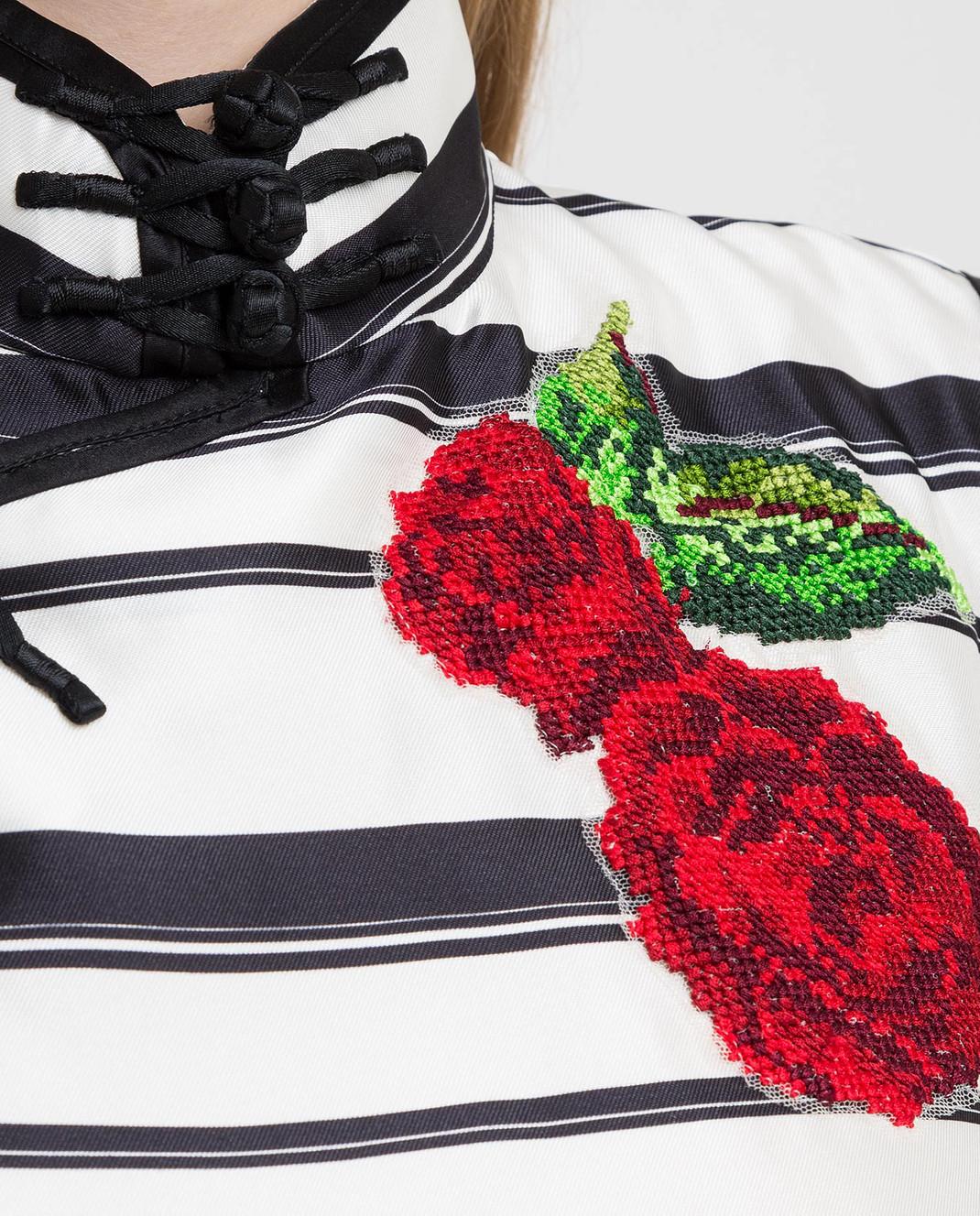 Dolce&Gabbana Белое платье из шелка F6XG7ZHS1D0 изображение 5