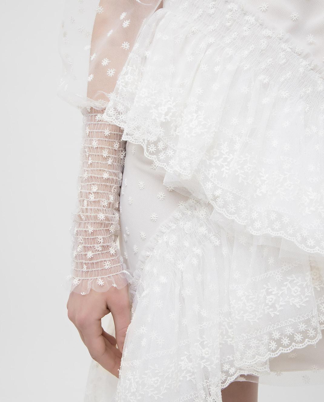Philosophy di Lorenzo Serafini Белое платье с кружевом A0469 изображение 5