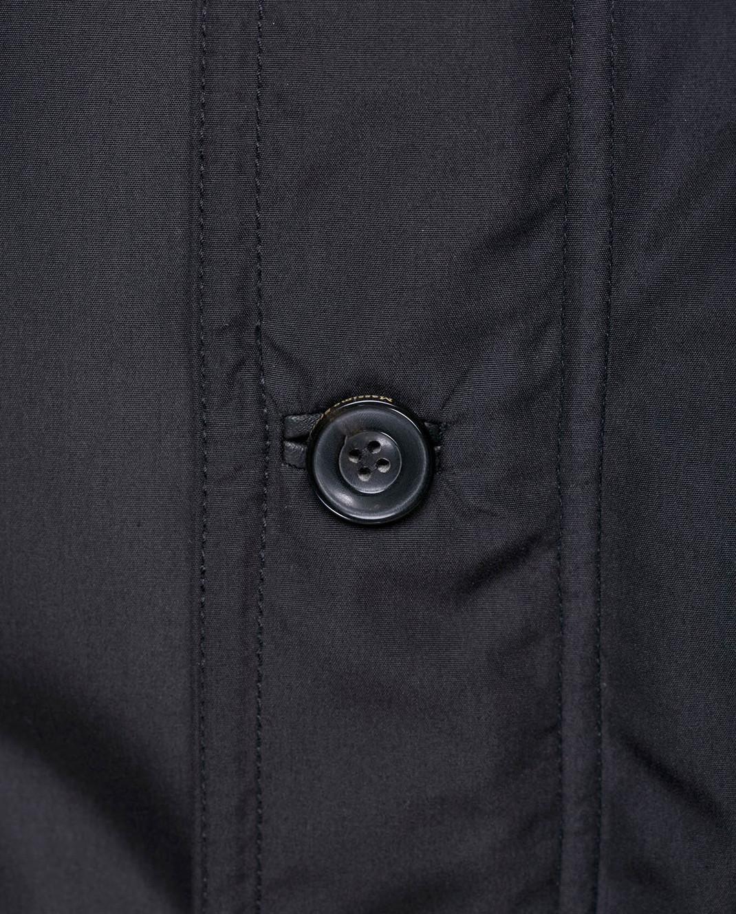 Massimo Sforza Черный пуховик из шелка KIPLIN изображение 5