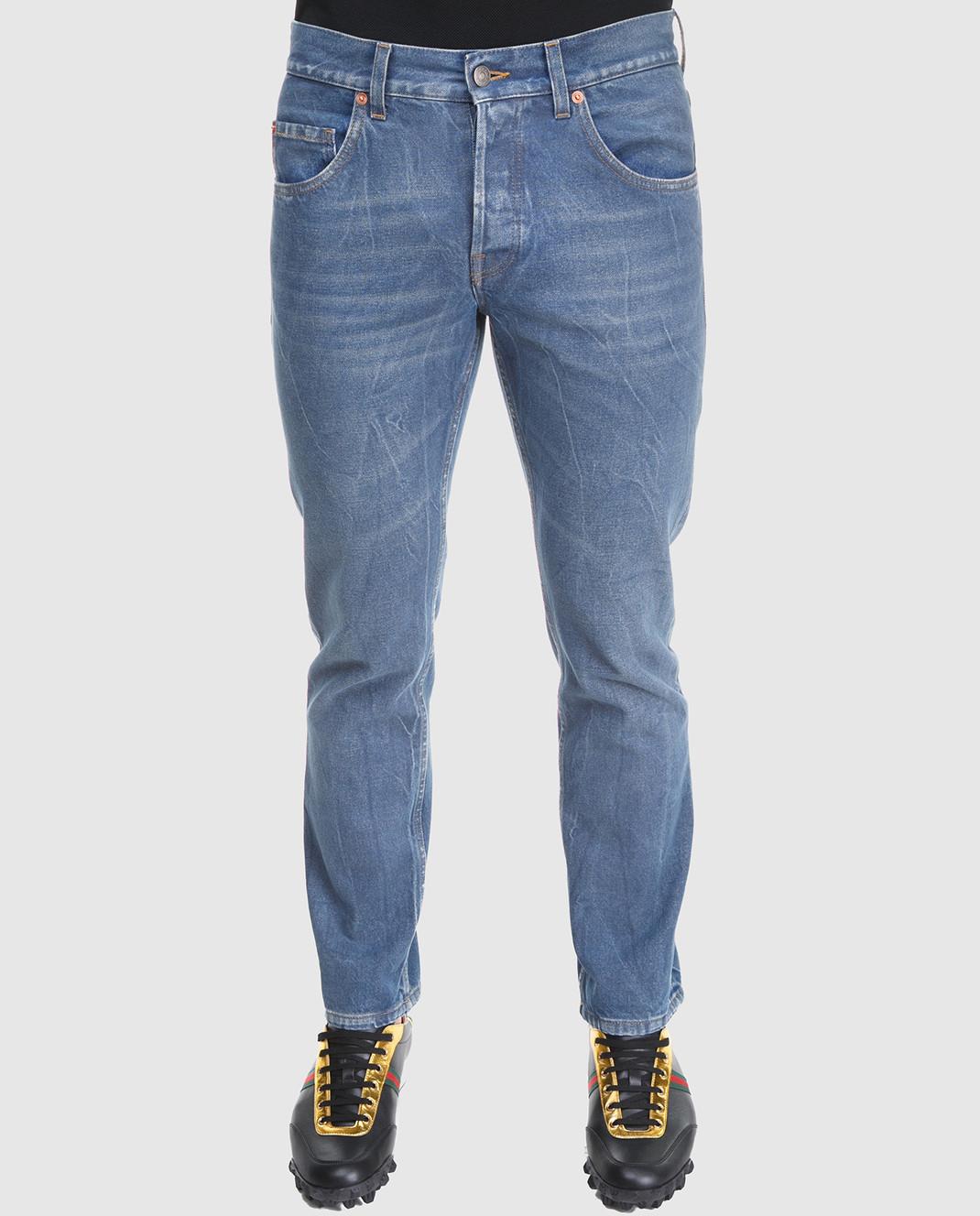 Gucci Синие джинсы 475273 изображение 3