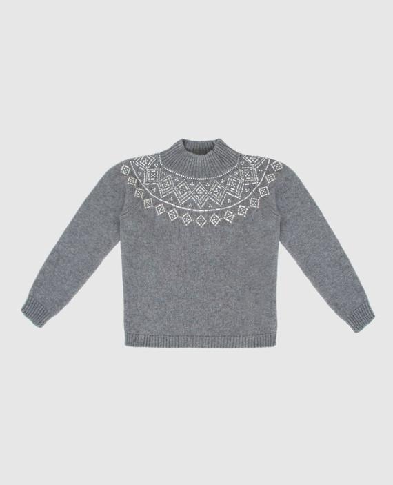 Детский серый свитер