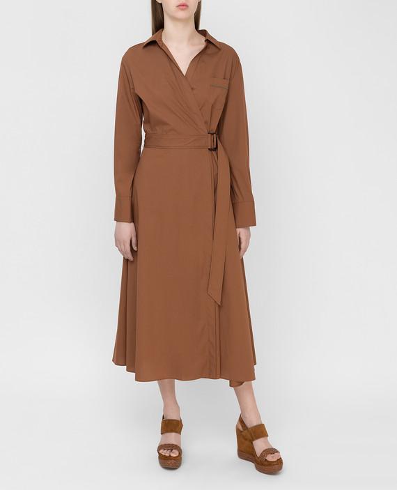 Коричневое платье hover