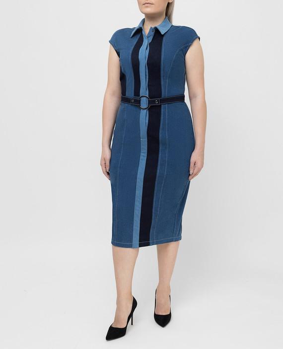 Синее платье hover