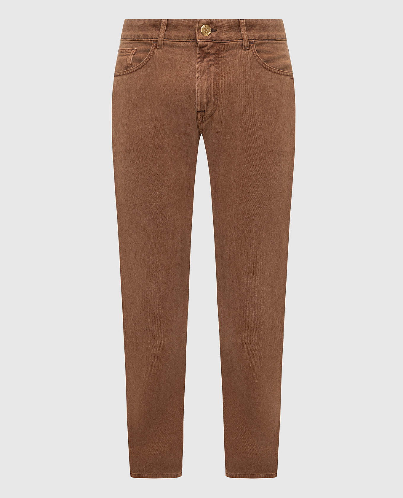Коричневые джинсы